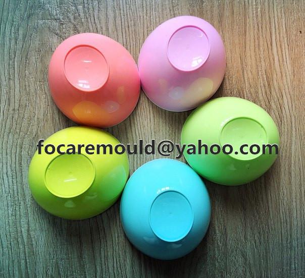 Cuenco de ensalada de molde de color doble