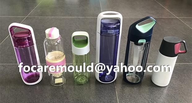 botella de agua de dos colores para deportes