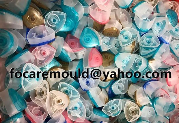 Tapas de champu de Dove dos colores